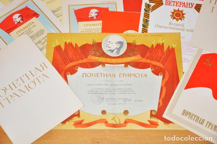 Militaria: Lote 25 diplomas sovieticas para una persona .URSS - Foto 2 - 116431291