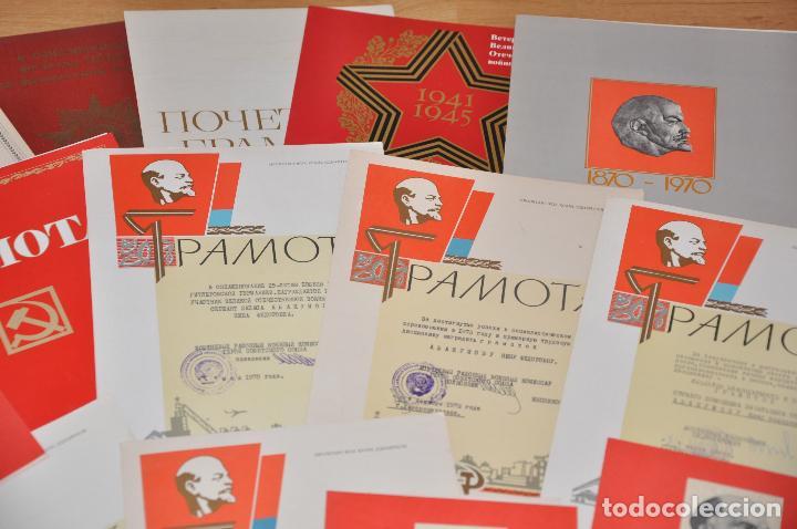 Militaria: Lote 25 diplomas sovieticas para una persona .URSS - Foto 3 - 116431291
