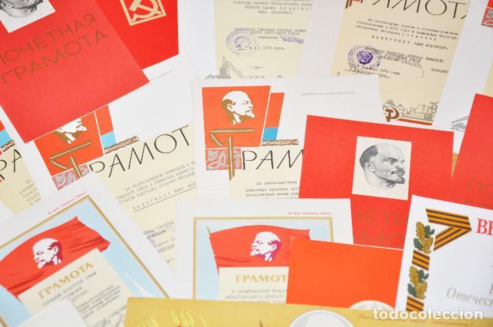 Militaria: Lote 25 diplomas sovieticas para una persona .URSS - Foto 4 - 116431291