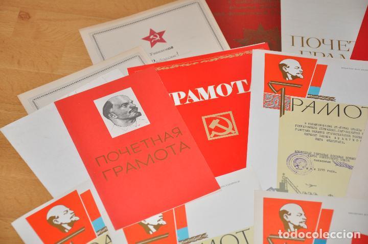 Militaria: Lote 25 diplomas sovieticas para una persona .URSS - Foto 5 - 116431291
