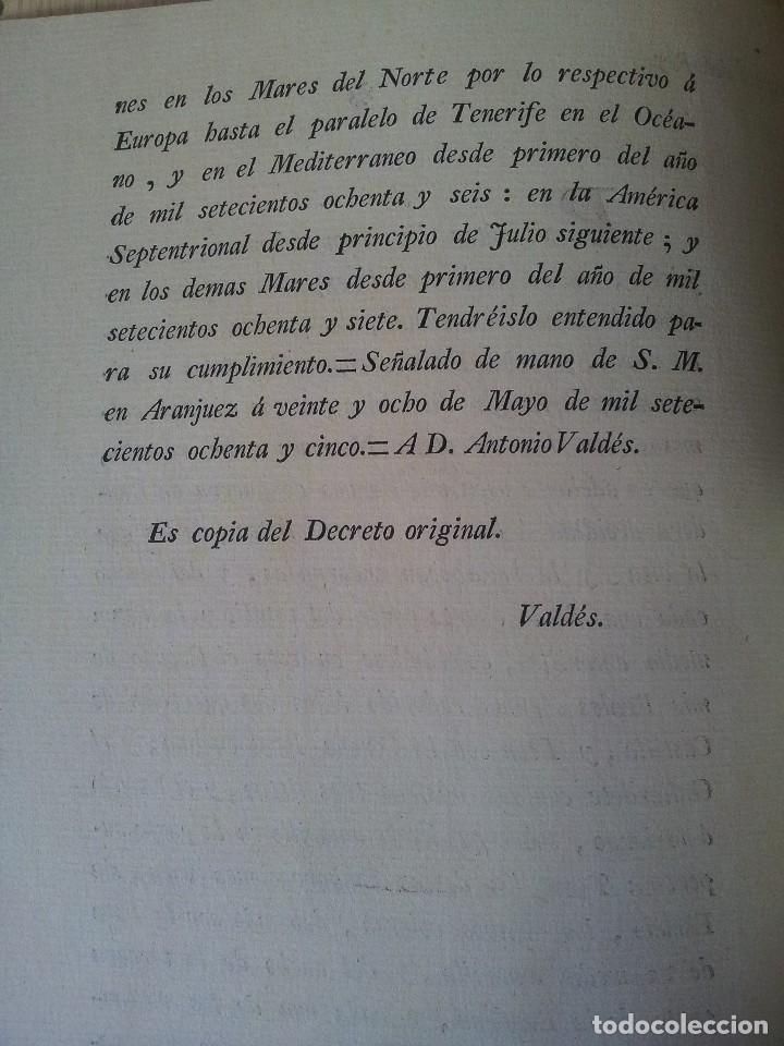 Militaria: LA BANDERA DE ESPAÑA. FACSIMIL DE LA COPIA ORIGINAL DE 1785 + LAMINA HISTORIA Y EVOLUCIÓN - Foto 7 - 116433795