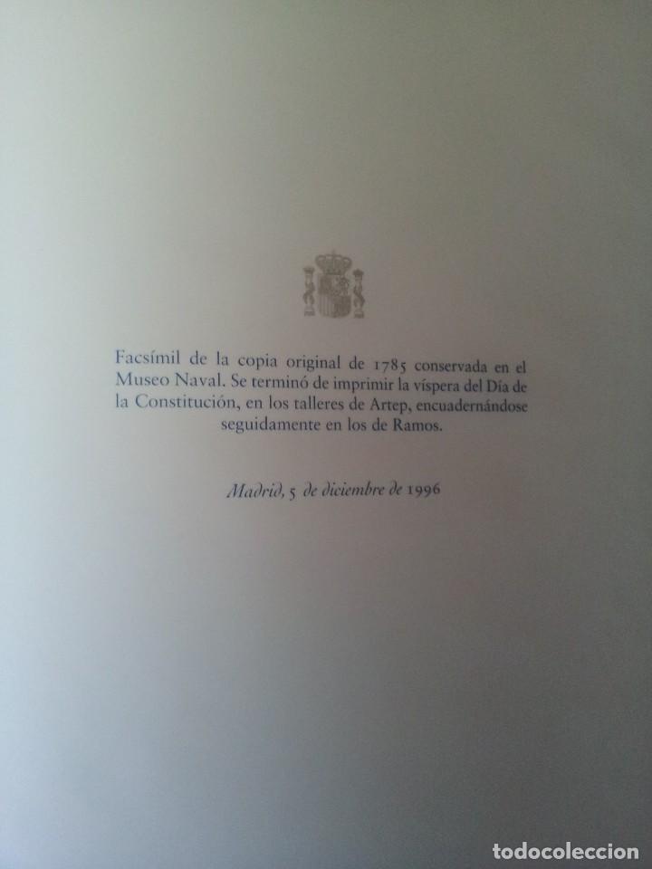 Militaria: LA BANDERA DE ESPAÑA. FACSIMIL DE LA COPIA ORIGINAL DE 1785 + LAMINA HISTORIA Y EVOLUCIÓN - Foto 9 - 116433795