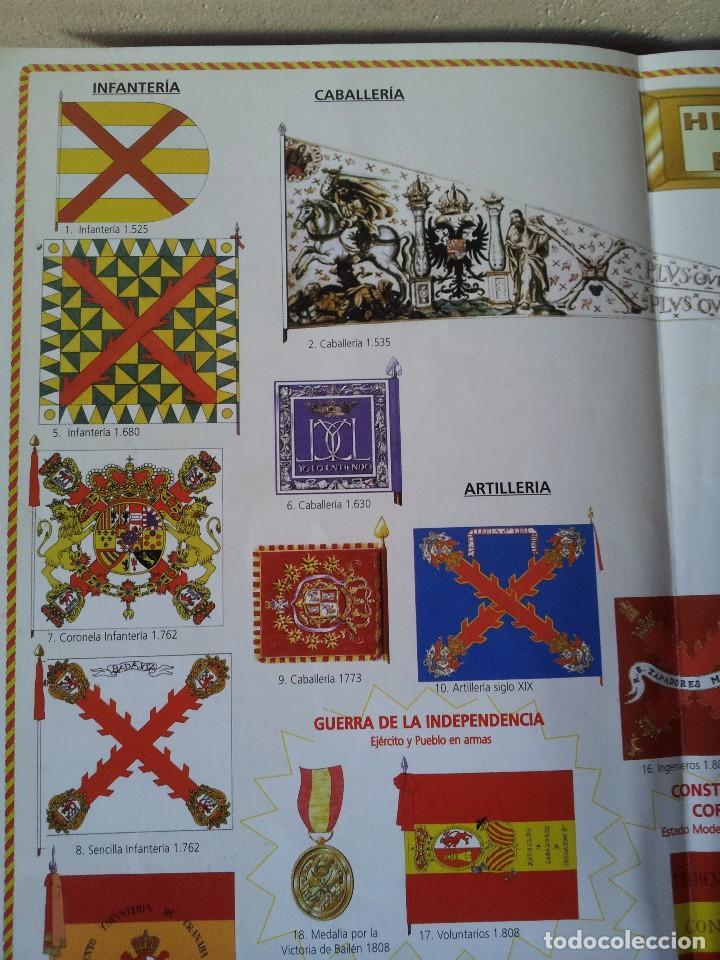 Militaria: LA BANDERA DE ESPAÑA. FACSIMIL DE LA COPIA ORIGINAL DE 1785 + LAMINA HISTORIA Y EVOLUCIÓN - Foto 11 - 116433795