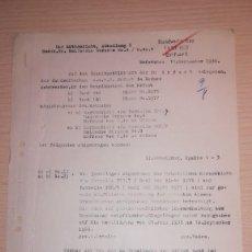 Militaria: DOCUMENTO ALEMAN, EPOCA III REICH. AÑO 1938. Lote 116545075