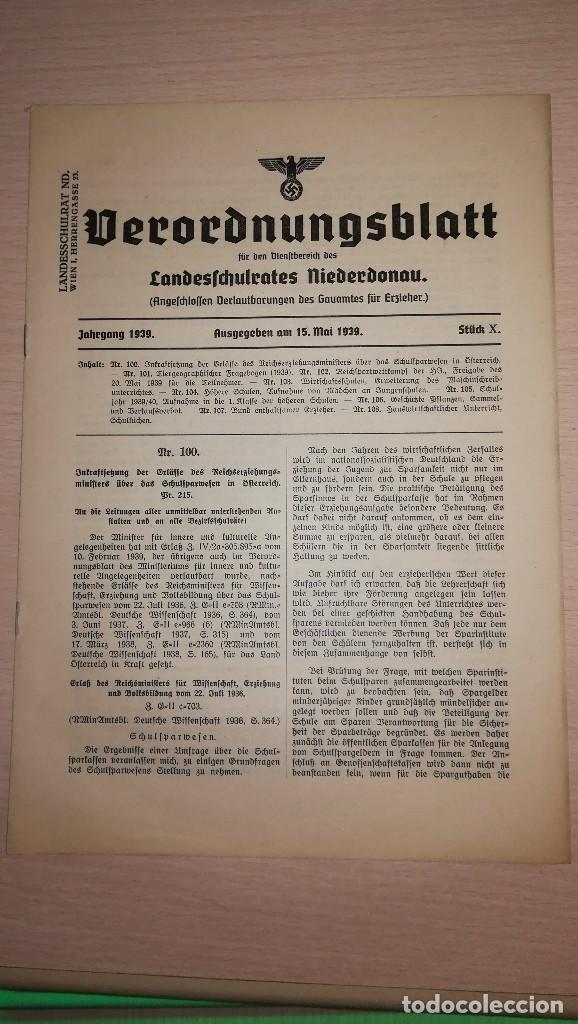 DOCUMENTO ALEMAN, EPOCA III REICH. AÑO 1939 (Militar - Propaganda y Documentos)