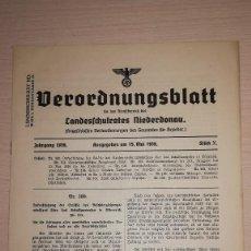 Militaria: DOCUMENTO ALEMAN, EPOCA III REICH. AÑO 1939. Lote 116546047