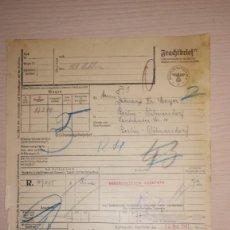 Militaria: DOCUMENTO ALEMAN, EPOCA III REICH. AÑO 1943. Lote 116546755