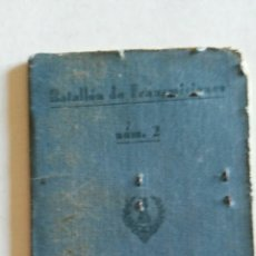 Militaria: CARTILLA MILITAR (BATALLÓN TRANSMISIONES). Lote 116806195