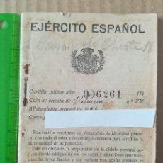 Militaria: CARTILLA MILITAR 1924 EJÉRCITO ESPAÑOL CON ANOTACIONES Y SELLOS. Lote 116868935