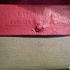 Militaria: EJERCITO ESPAÑOL CARTILLA MILITAR. Lote 117465798