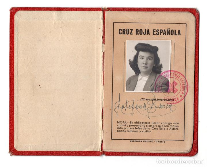 CARNET CRUZ ROJA 1944 - ASAMBLEA LOCAL CALAHORRA (Militar - Propaganda y Documentos)