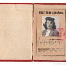 Militaria: CARNET CRUZ ROJA 1944 - ASAMBLEA LOCAL CALAHORRA. Lote 117582479