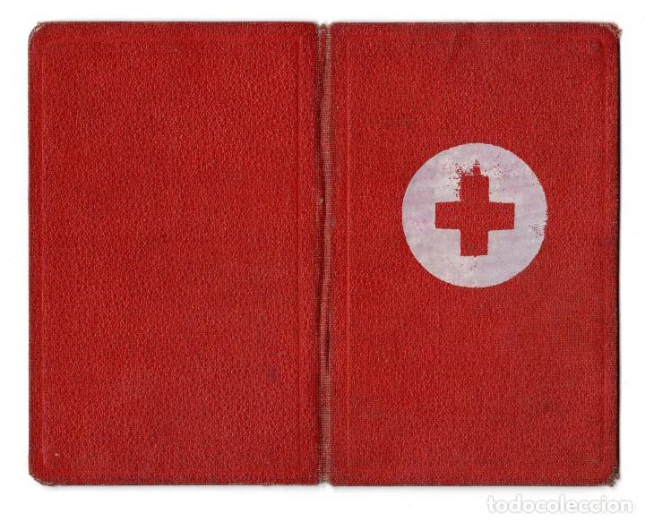 Militaria: CARNET CRUZ ROJA 1944 - ASAMBLEA LOCAL CALAHORRA - Foto 4 - 117582479