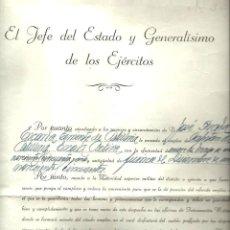 Militaria: R120- DOCUMENTO DEL JEFE DEL ESTADO Y GENERALISIMO DE LOS EJERCITOS - FIRMADO - EL PARDO 25 -5 -1951. Lote 117986267