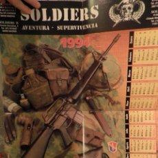 Militaria: ANTIGUO CALENDARIO 1994 DE LA REVISTA ARMAS, CON PROPAGANDA DE TIENDA SOLDIERS, BONITA FOTOGRAFIA. Lote 118048623