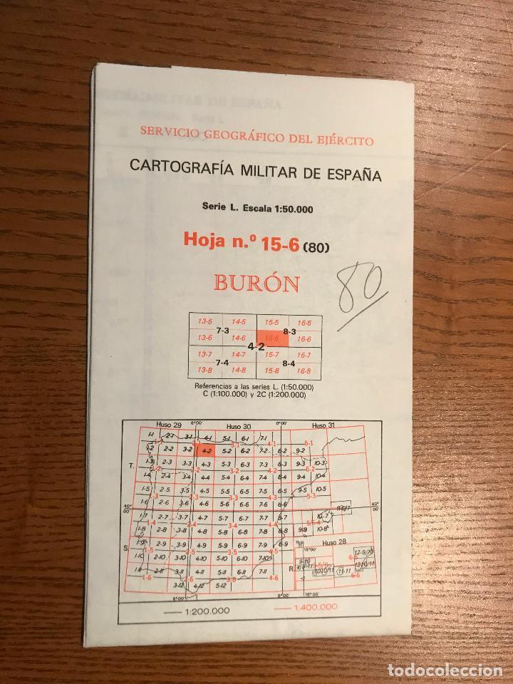 MAPA DE LA CARTOGRAFIA MILITAR DE ESPAÑA 1:50000 SERIE L. BURON. Nº 15-6 (80) (Militar - Propaganda y Documentos)
