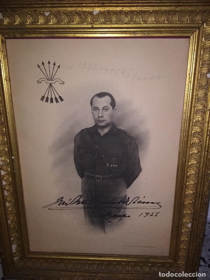 Militaria: Precioso marco con lámina de primo de Rivera - Foto 2 - 118106263