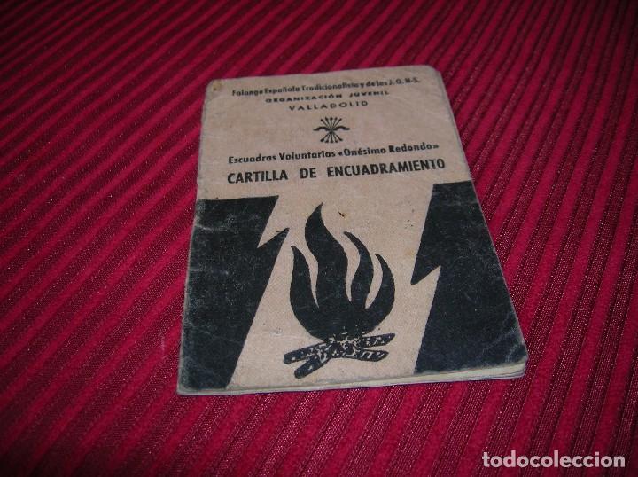 CARTILLA DE ENCUADRAMIENTO .ESCUELAS VOLUNTARIAS -ONÉSIMO REDONDO.AÑO 1940 (Militar - Propaganda y Documentos)