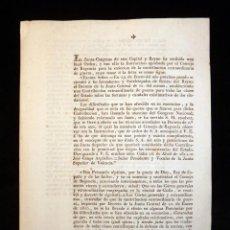 Militaria: REAL ORDEN Y REGLAMENTO CONTRIBUCIÓN EXTRAORDINARIA GUERRA, DIPUTACIÓN REYNO VALENCIA, 25 MAYO 1811 . Lote 118207483