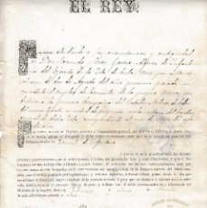 Militaria: 1878 TITULO ASCENSO TENIENTE INFANTERIA 1ª COMPAÑIA BATALLON MILICIAS DE COLOR CUBA GENERAL CEBALLOS. Lote 118654886