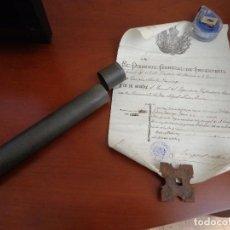 Militaria: PORTA DOCUMENTACIÓN LICENCIA METÁLICO. Lote 118667723