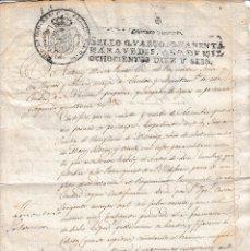 Militaria: 1816 GRANADA FISCAL 4º ALISTAMIENTO REGIMIENTO PROVINCIAL ALEGACION HIJODALGO BELLITO AU SELLO PAPEL. Lote 118838023