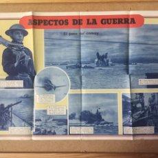 Militaria: AUTÉNTICO POSTER DE LA WWII - ASPECTOS DE LA GUERRA , EL PASO DEL CONVOY - 2 GUERRA MUNDIAL. Lote 118892394