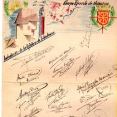 Militaria: DIBUJO ORIGINAL CUERPO EJERCITO DE NAVARRA. LUCHADORES DE LA JEFATURA DE INTENDENCIA.. Lote 119082764
