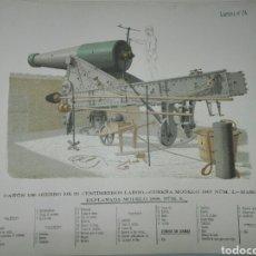 Militaria: 34 LÁMINAS DE ARTILLERÍA ÉPOCA ALFONSO XIII. Lote 119402016
