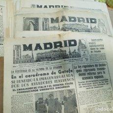 Militaria: PERIODICOS GUERRA CIVIL MADRID. Lote 119612559