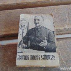 Militaria: TACO FOLIOSCOPIO QUEIPO DE LLANO SALUDO MILITAR BUENAS NOCHES SEÑORES PUBLICIDAD GONZALEZ BYASS. Lote 120314323