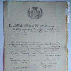 Militaria: EL CAPITAN GENERAL DE ANDALUCIA CONCEDE LICENCIA ABSOLUTA DEL EJERCITO, DICIEMBRE 1904. Lote 121286595