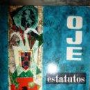 Militaria: OJE,ORGANIZACION JUVENIL ESPAÑOLA.ESTATUTOS,FRENTE DE JUVENTUDES 1960. 13X15.5 NO PAGINADO. Lote 121463743