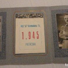 Militaria: PROGRAMA FESTEJOS.PATRONA INFANTERIA.REGIMIENTO EXTREMADURA 15.ALGECIRAS 1945.MINUTA.HIMNO. Lote 121821351