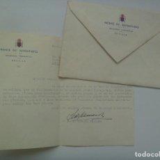 Militaria: FRENTE DE JUVENTUDES , DELEGADO PROVINCIAL : CARTA A CONCEJAL DE SEVILLA . 1960. Lote 122172655