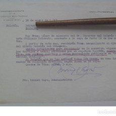 Militaria: OBISPADO PRIORATO DE LAS ORDENES MILITARES : CARTA A EDITOR EN SEVILLA. CIUDAD REAL, 1968. Lote 122176647