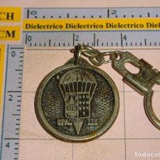 Militaria: LLAVERO MILITAR. EJÉRCITO ESPAÑOL. EJÉRCITO DEL AIRE. BRIPAC III BANDERA. BRIGADA PARACAIDISTA. Lote 122321859