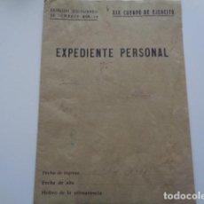 Militaria: GUERRA CIVIL. BATALLÓN DISCIPLINARIO DE COMBATE Nº 19. XIX CUERPO DE EJERCITO. EXPEDIENTE PERSONAL. Lote 123079291