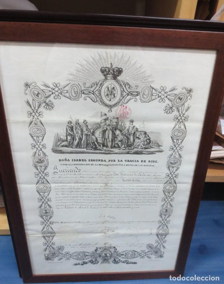 título enmarcado concesión gran cruz real orden - Comprar Propaganda ...