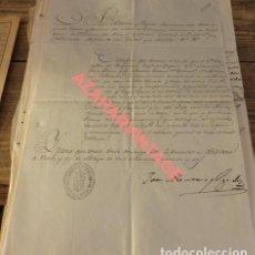 Militaria: MATARÓ, 1842, CERTIFICADO EJEMPLARIDAD A REGIMIENTO INFANTERIA INFANTE Nº5, FIRMADO ROMERO VIGODET. Lote 123358351