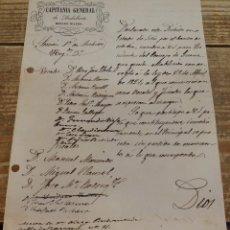 Militaria: SEVILLA, 1848, NOMBRAMIENTO PRESIDENTE CONSEJO DE GUERRA. Lote 123448519