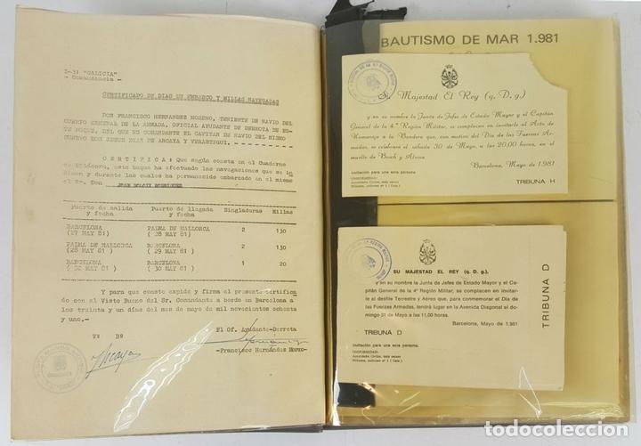 Militaria: COLECCIÓN DE DOCUMENTACIÓN, BANDERINES E INSIGNIAS MILITARES. AÑOS 70/80. - Foto 2 - 123580151