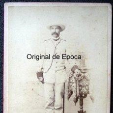 Militaria: (JX-180620)FOTOGRAFÍA DE TENIENTE DEL EJERCITO COLONIAL ESPAÑOL EN LA ISLA DE CUBA , GUANTANAMO. Lote 123676943