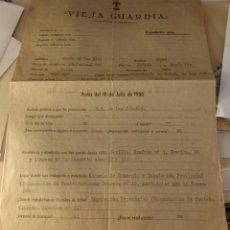 Militaria: SEVILLA, 1942, FALANGE, EXPENDIENTE MIEMBRO VIEJA GUARDIA. Lote 123794411