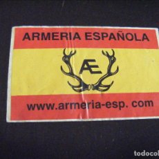 Militaria: JML PEGATINA ARMERIA ESPAÑOLA 9X6 CM. VER FOTOS.. Lote 123804967
