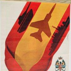 Militaria: GRAN POSTER DIA DE LAS FUERZAS ARMADAS 1981. Lote 125174023