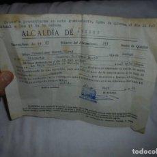 Militaria: ALCALDIA DE AVILES.CITACION PARA PRESENTARSE EN LA CAJA RECLUTA DE OVIEDO.1968. Lote 125328603