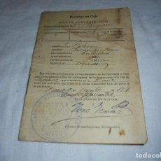 Militaria: RECLUTAS EN CAJA.HOAJ DE CONCENTRACION.CAJA DE RECLUTAS DE PRAVIA 1918. Lote 125336803