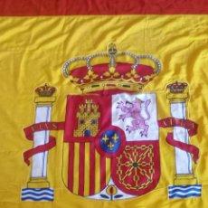 Militaria: BANDERA ESPAÑOLA ORIGINAL 3MX2M DE TELA: ALGODÓN 100%. ESCUDO ESPAÑOL AMBOS LADOS. ESPAÑA. Lote 125962062
