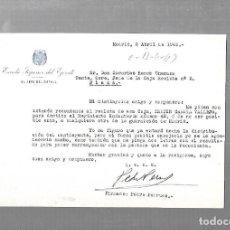Militaria - ESCUELA SUPERIOR DEL EJERCITO. EL JEFE DEL DETALL. 1943. MADRID. CARTA DE PEDRO PERRUCA - 126329131